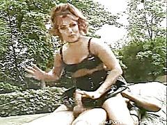 Porn: Masturbacija, Dekle Drka Tiča, Milf, Zunanji Izliv